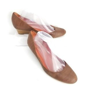 Cole Haan Wedges Size 9.5 Brown Leather Nikeair